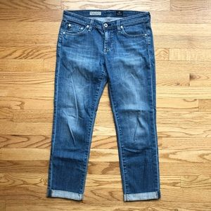 AG The Stevie Roll Up Straight Crop Ankle Jean